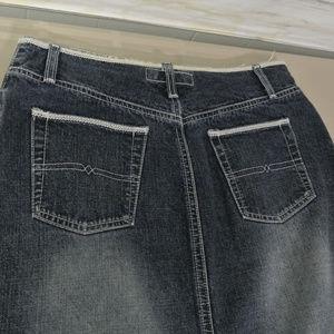 HYDRAULIC 7/8 30 x 37 Women Long Denim Jean Skirt